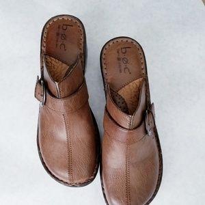 Born vegan leather brown clogs size 9M
